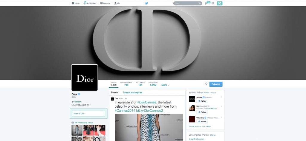Dior on Twitter